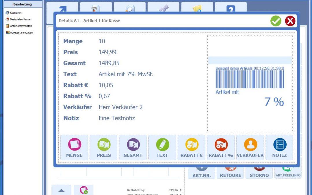 Kaufmännische Softwarelösung – Kasse 3.0